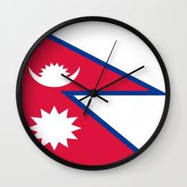 Flag of Nepal Wall Clock