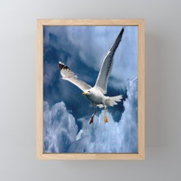 In the storm Framed Mini Art Print