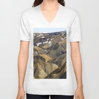 iceland V-neck T-shirts featuring ICELAND II by Gerard Puigmal