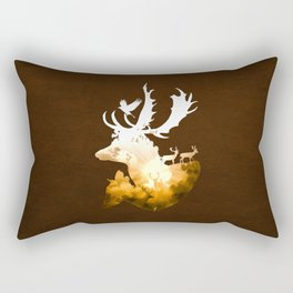 Deer Autumn Rectangular Pillow
