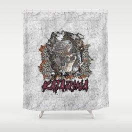 League of Legends KATARINA graffiti style Shower Curtain