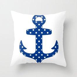 Levando Anclas Azul Throw Pillow