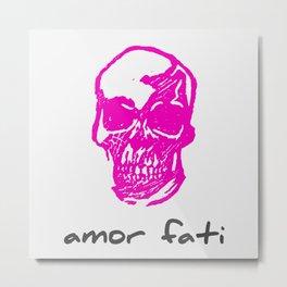 Amor Fati: Pink Skull Metal Print