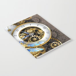 Dials with Dragonfly ( Steampunk ) Notebook