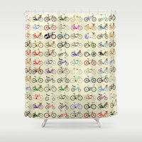 bikes Shower Curtains featuring Bikes by Wyatt Design