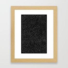 storm | black Framed Art Print