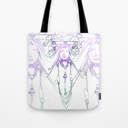 Tribal Face 2 Tote Bag