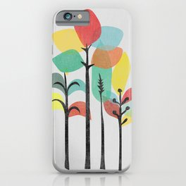 Tropical Groove (gray) iPhone Case