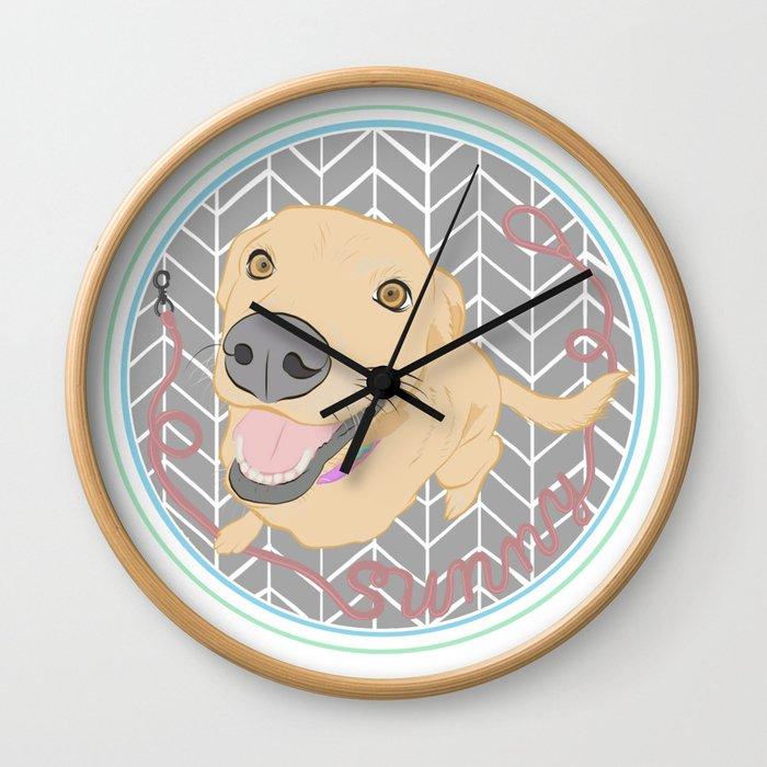 Sunny the Dog Wall Clock