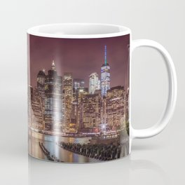 NEW YORK CITY Nightly Impressions   slim panoramic Coffee Mug