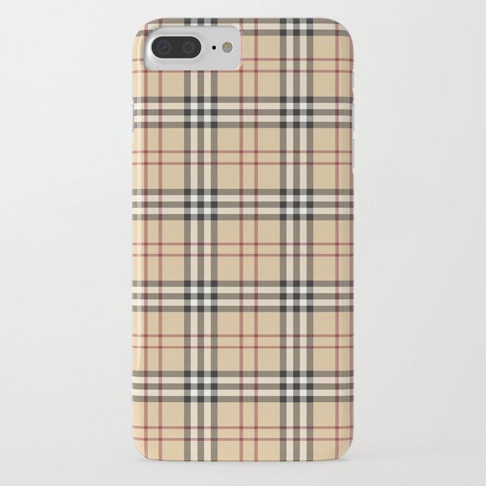 tartan plaid b iphone case