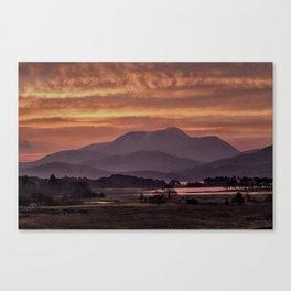 Scotland Ben Nevis mountain at sunrise Canvas Print
