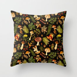 Vintage & Shabby Chic - Autumn Harvest Black Throw Pillow