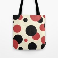 polka Tote Bags featuring Ladybird Polka by Paula Belle Flores