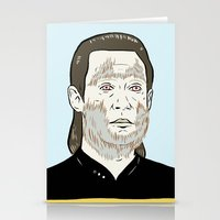 data Stationery Cards featuring Data Wolf by Mike Force