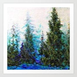 BLUE MOUNTAIN PINE FOREST  VISTA Art Print