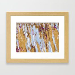 Yellow and Green Framed Art Print