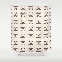 mustache Shower Curtains featuring Mustache by Jaeyun Woo
