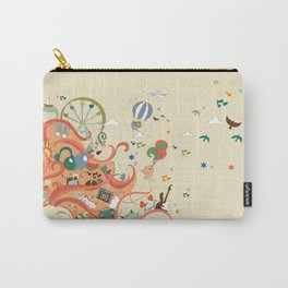 red-haired girl and her dreams about travel and vacation Carry-All Pouch