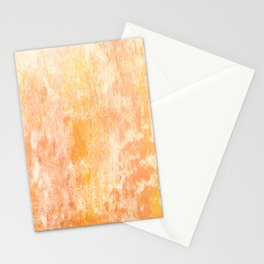 Marbling structur in warm orange tones Stationery Cards