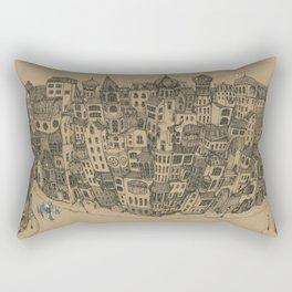 The Rambling City Rectangular Pillow