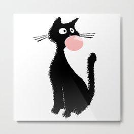 Bubblegum Kitty Metal Print
