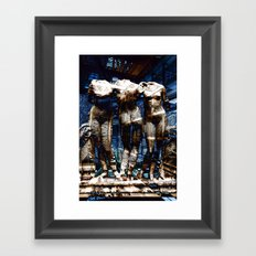 3 cyborg graces Framed Art Print