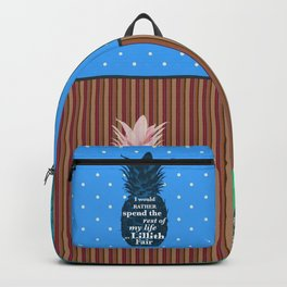 Things Carlton Lassiter would rather do - Psych quotes Backpack
