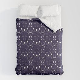 Moonflower Moon Phases Comforters