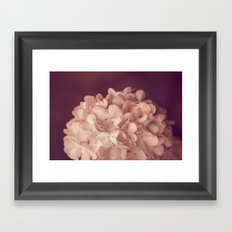 the white ball Framed Art Print