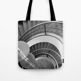 Curved Stairs Tote Bag