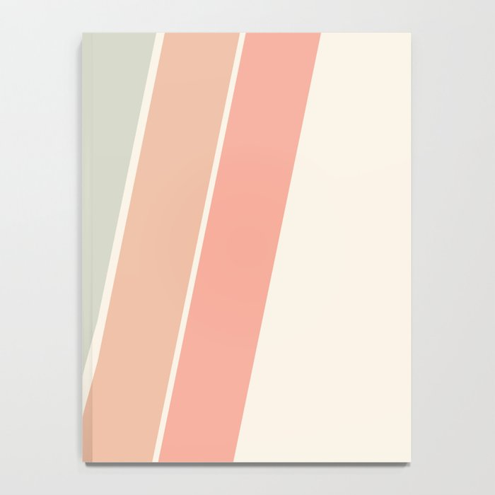 Trippin' - retro 70s socal minimal striped abstract art california surfing vintage Notebook