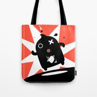 runner Tote Bags featuring Runner by agustain