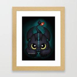 Pounce (Glow) Framed Art Print