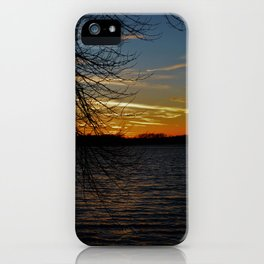 Sunset on the River. iPhone Case