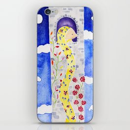 Rapunzel Let Down Your Golden Hair iPhone Skin