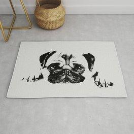 Pug dog Digital Art Rug