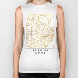 ST. LOUIS MISSOURI CITY STREET MAP ART Biker Tank