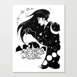 Snow and Stars Canvas Print