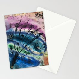 Colorful Abstract Bouquet Stationery Cards