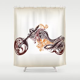 Abstract Motorcycle Shower Curtain