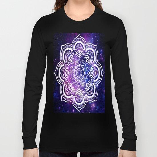 Mandala purple blue galaxy space Long Sleeve T-shirt
