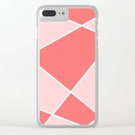 Geometric abstract - pink. Clear iPhone Case