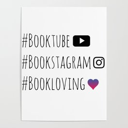 BOOKISH HASHTAGS Poster