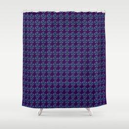 Blue Pentagram Shower Curtain