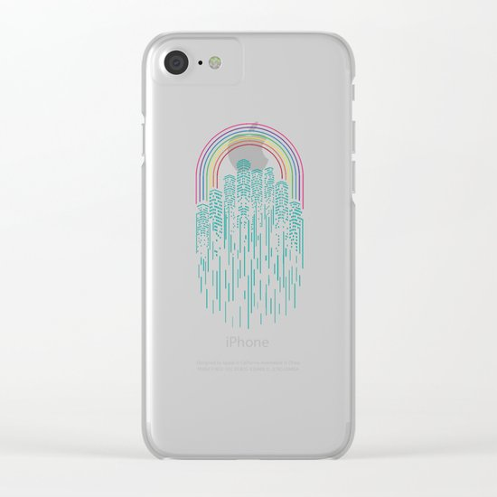 Neon City Clear iPhone Case