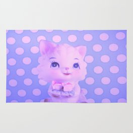 Polka dot kitty  Rug