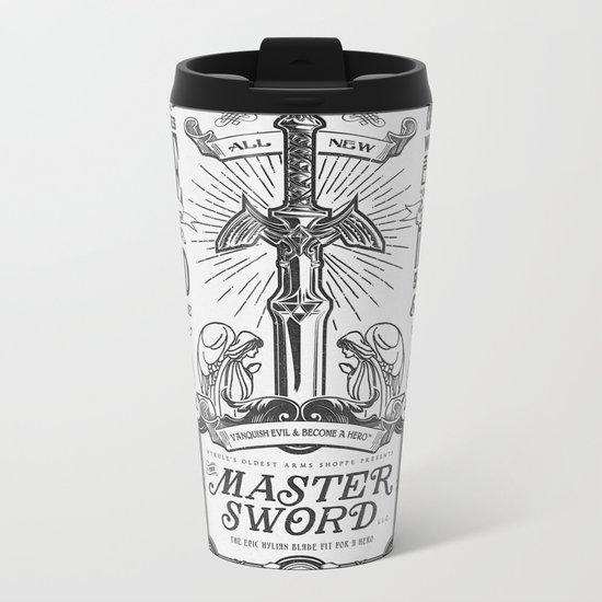 Legend of Zelda Vintage Master Sword Advertisement Metal Travel Mug