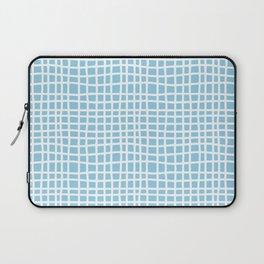 blue random cross hatch lines checker pattern Laptop Sleeve