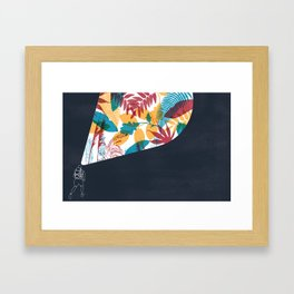 Running with my father Framed Art Print